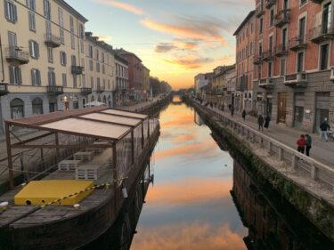 コロナだけど美しいミラノの空!写真がとても綺麗に撮れる!