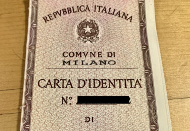 初めてイタリアで自分の身分証明書を作るときにびっくりした事!!!