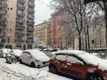 ミラノ大雪降りました!