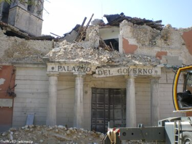 イタリア中南部の大きな地震…